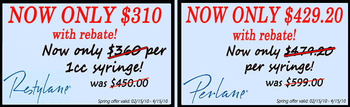 Restylane and Perlane Spring Price Special