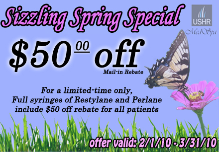 Spring Rebate-- Restyalne and Perlane Pricing
